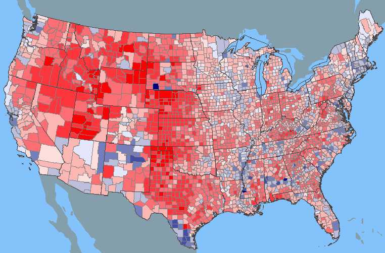 FileUSA Presidential Popular Vote By Countyjpg Wikimedia - Us map counties by vote