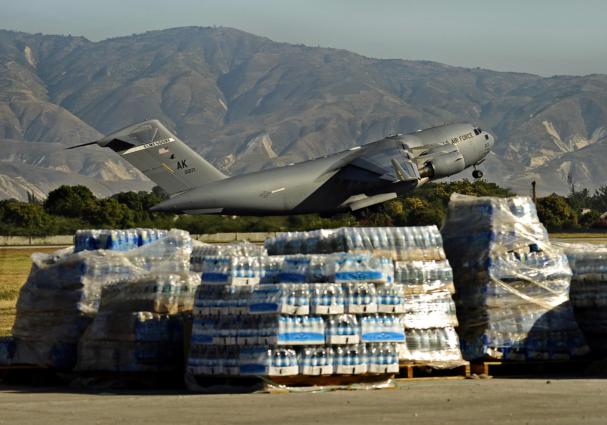Image result for c-17 delivering supplies