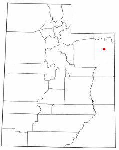 Location of Vernal, Utah
