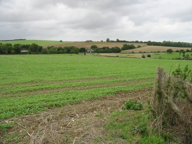 View of Newbarn from the Elham Valley Way - geograph.org.uk - 966086