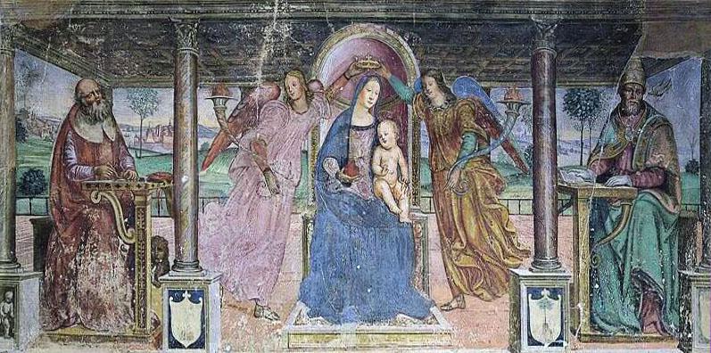 Vincenzo Tamagni. Madonna in trono col Bambino, angeli e Santi