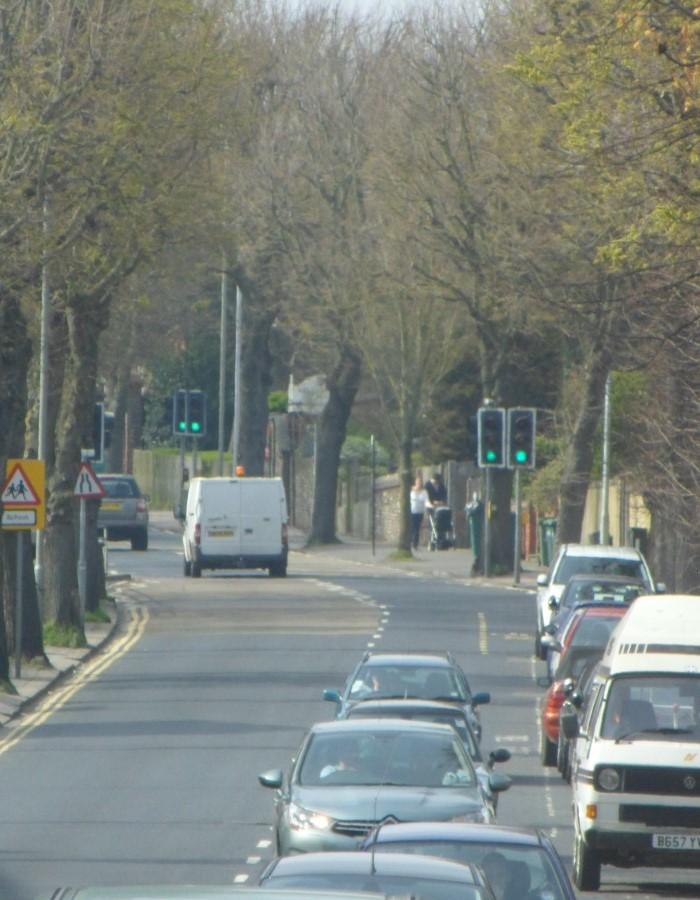 File:Westward view along Old Shoreham Road (near Montefiore Road), Hove (April 2013) (1).JPG