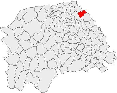 Comuna Zamostea - aşezarea geografică