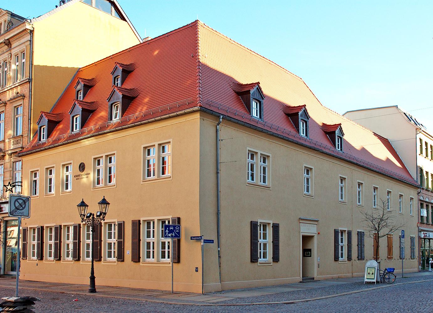 Lugar de nacimiento de Robert Schumann en Zwickau.