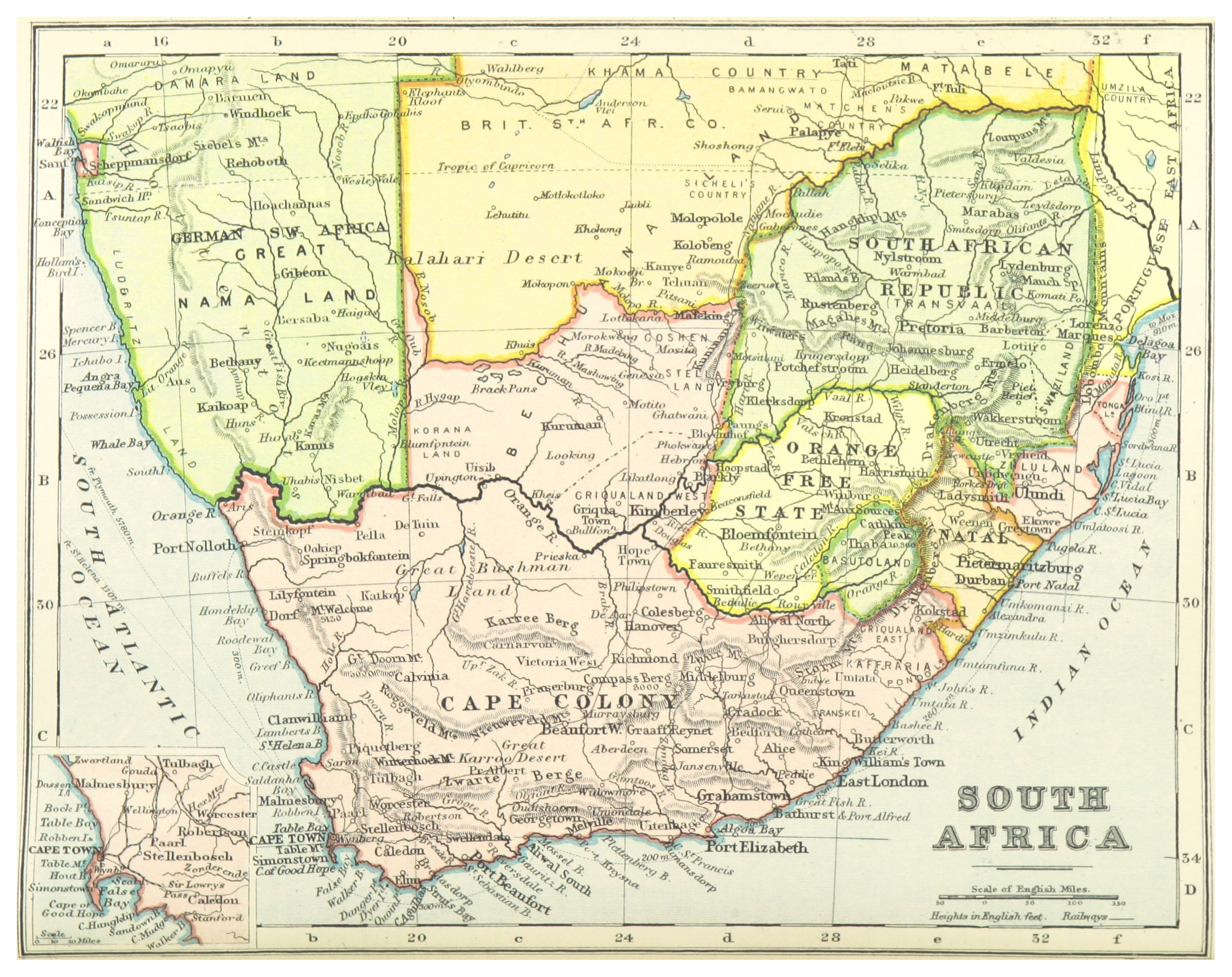 South Africa Map 1800