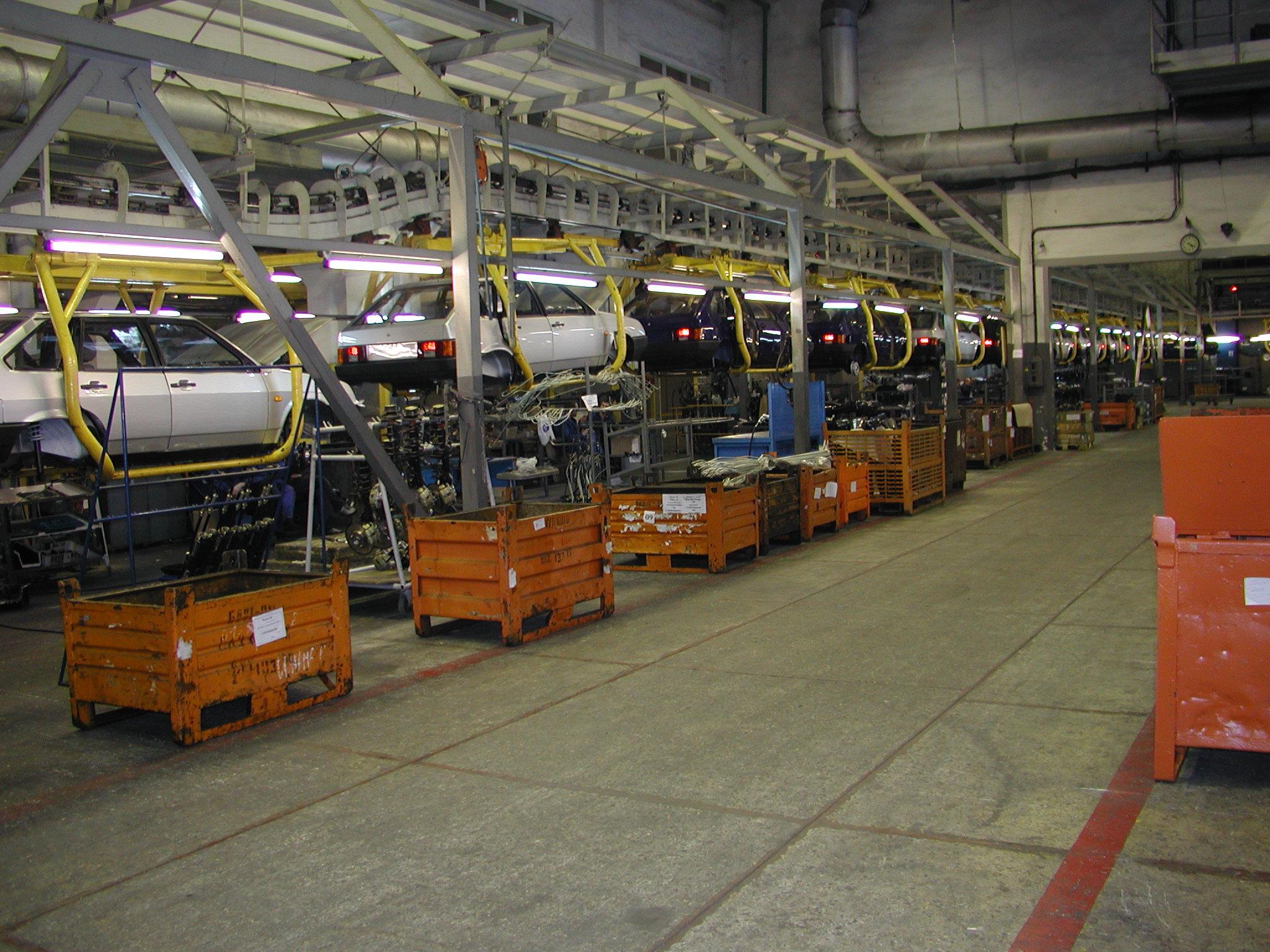 Конвейер по производству автомобилей высота прохода под конвейером