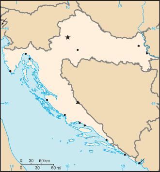 térkép wikipédia Sablon:Horvátország térkép – Wikipédia