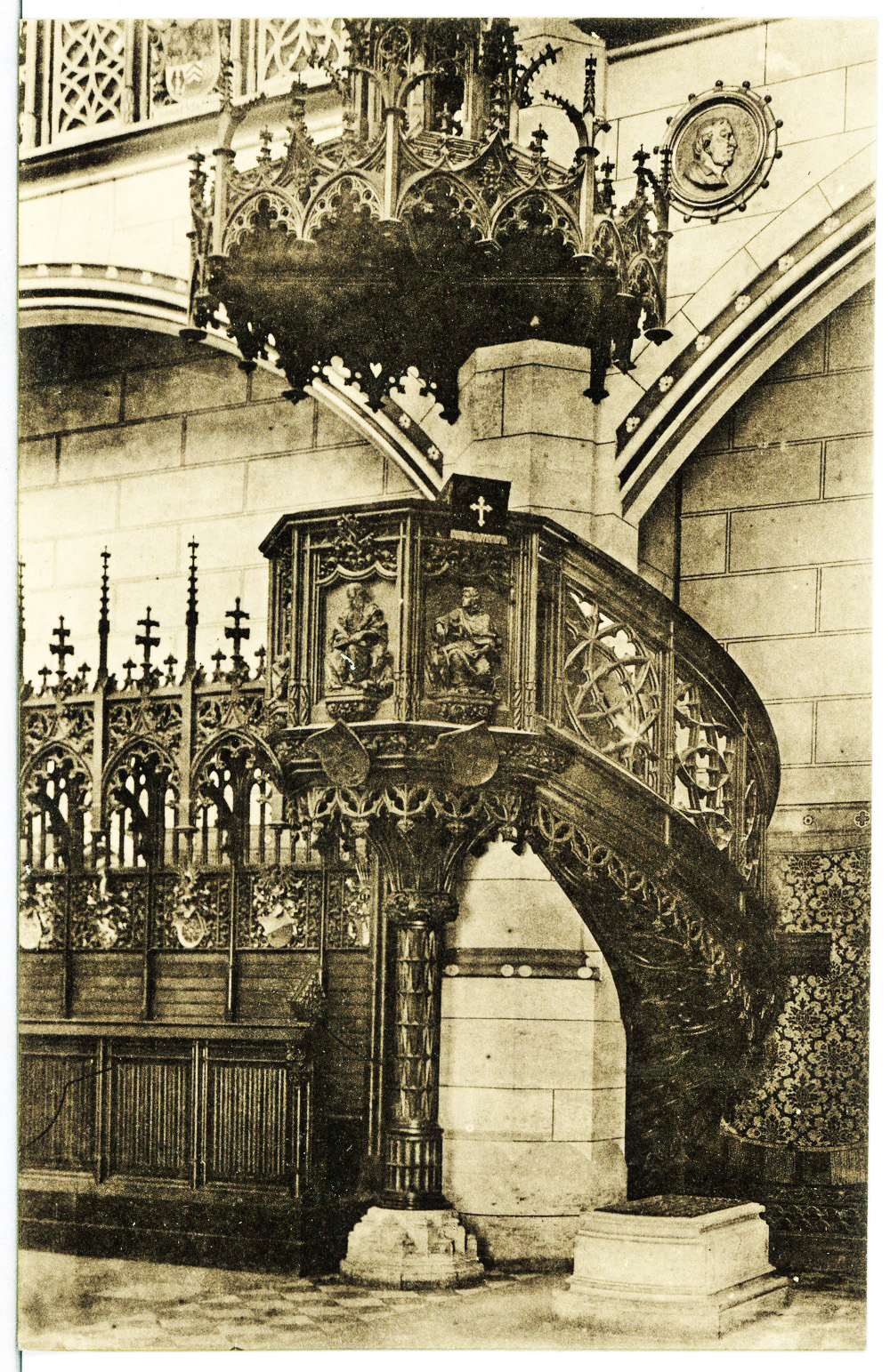 Datei:12980-Wittenberg-1911-Kanzel und Luthers Grab in der ...