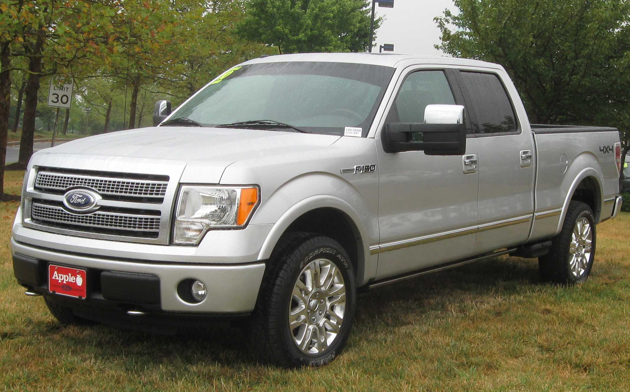 file 2010 ford f 150 platinum 07 10 wikimedia commons. Black Bedroom Furniture Sets. Home Design Ideas