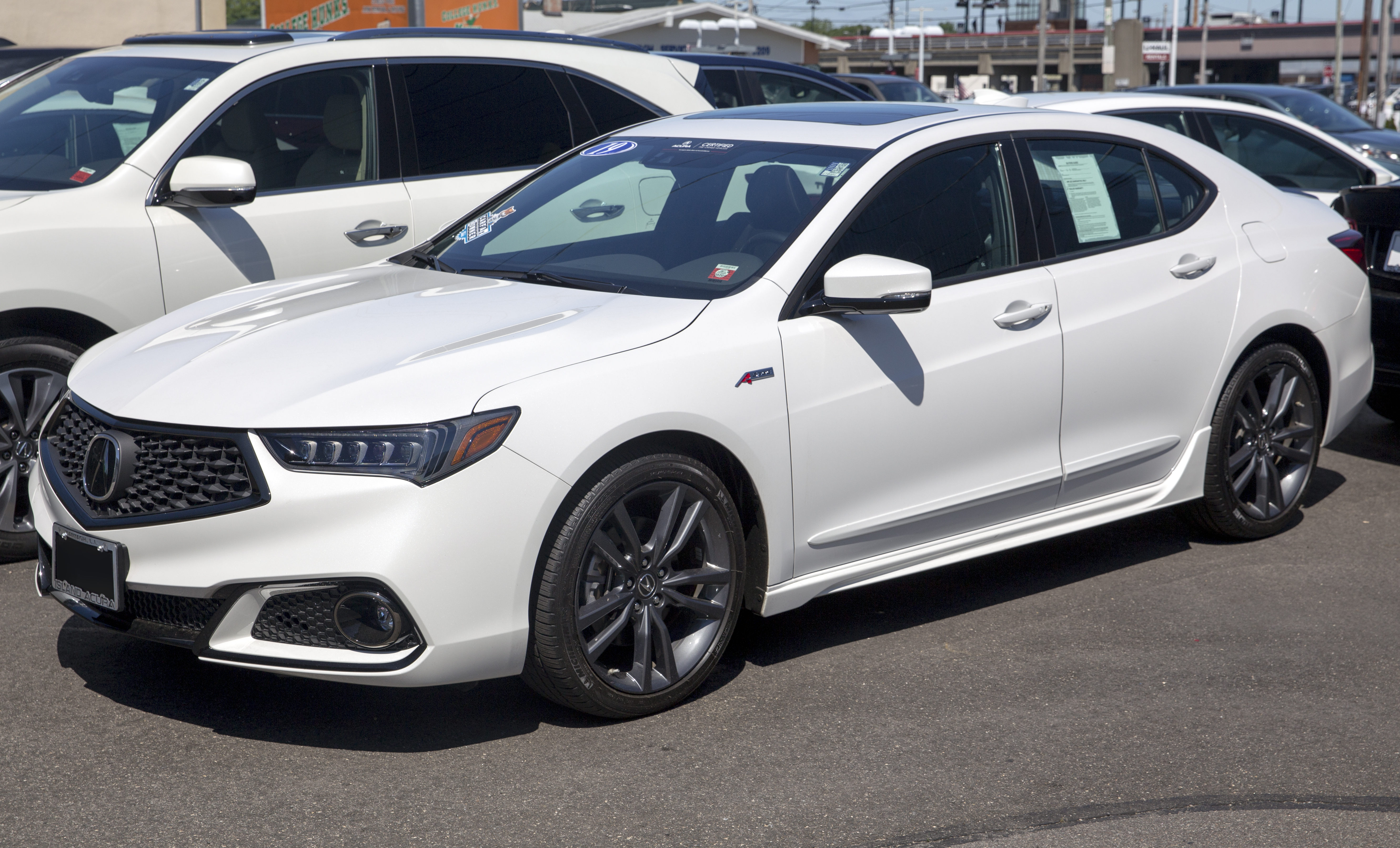 File 2019 Acura Tlx 2 4 A Spec White Diamond Front Left Jpg Wikimedia Commons
