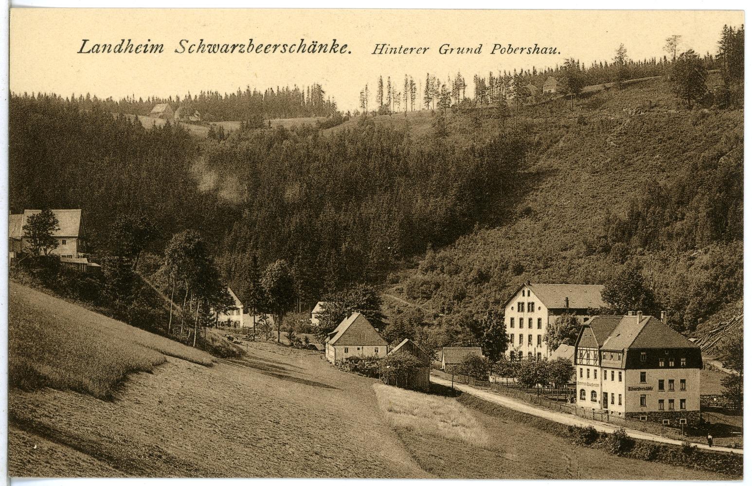 File:22347-Schwarzwassertal-1923-Hinterer Grund Pobershau, Landheim ...