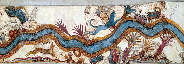 River fresco from Akrotiri