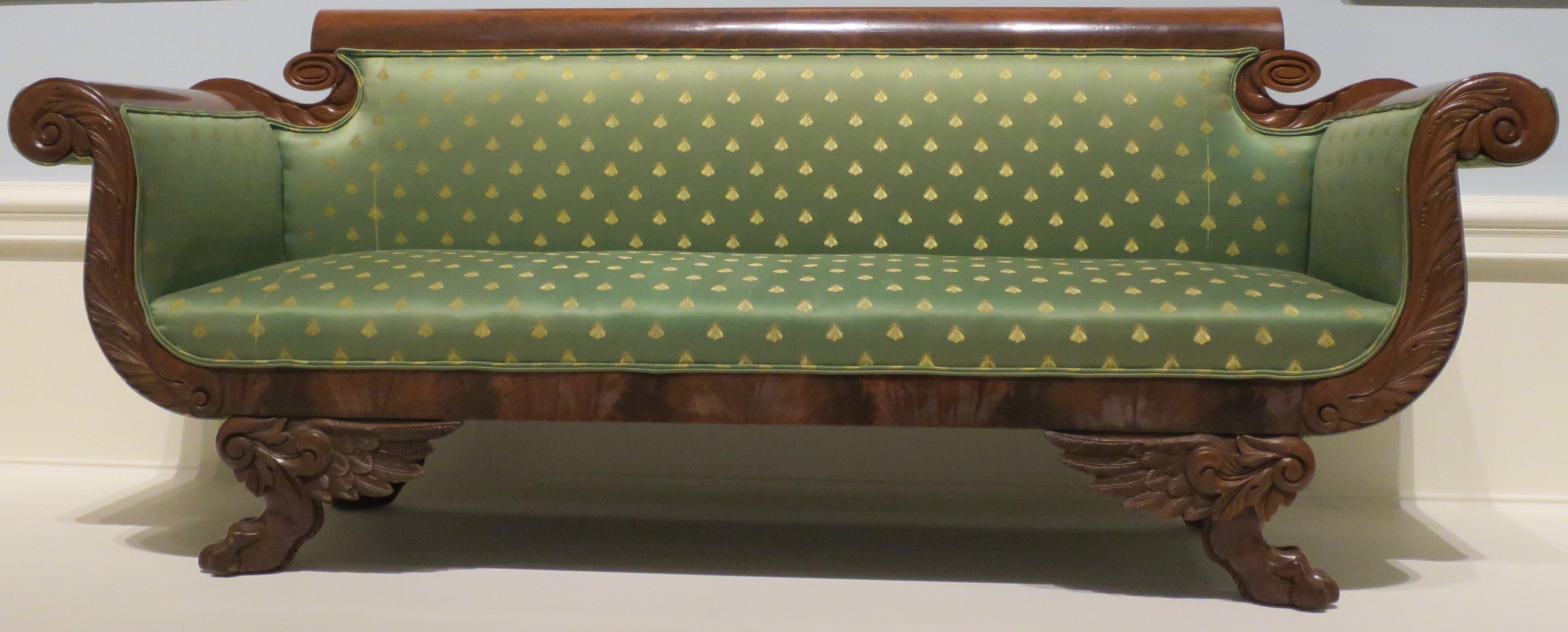 File American Empire Style Sofa C 1820 30 Wood
