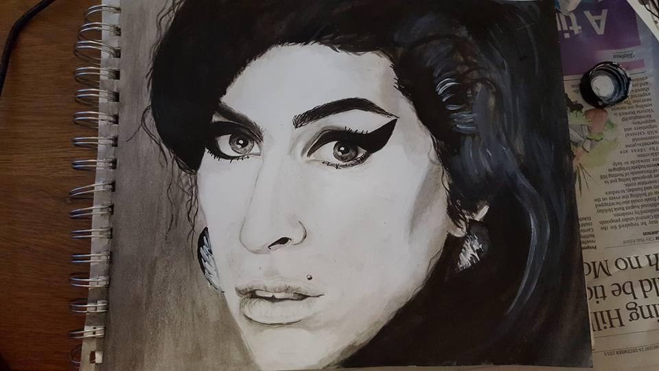 File Amy Winehouse Drawing Jpg Wikimedia Commons