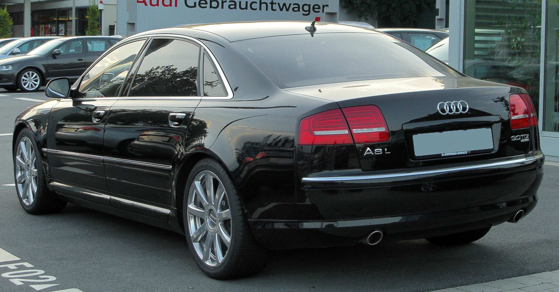 file audi a8 l 3 0 tdi quattro d3 ii facelift rear. Black Bedroom Furniture Sets. Home Design Ideas