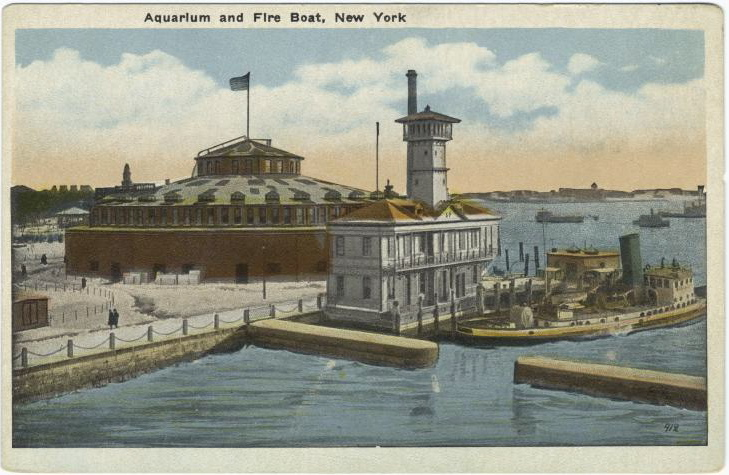 Aquarium and Fire Boat, NYC