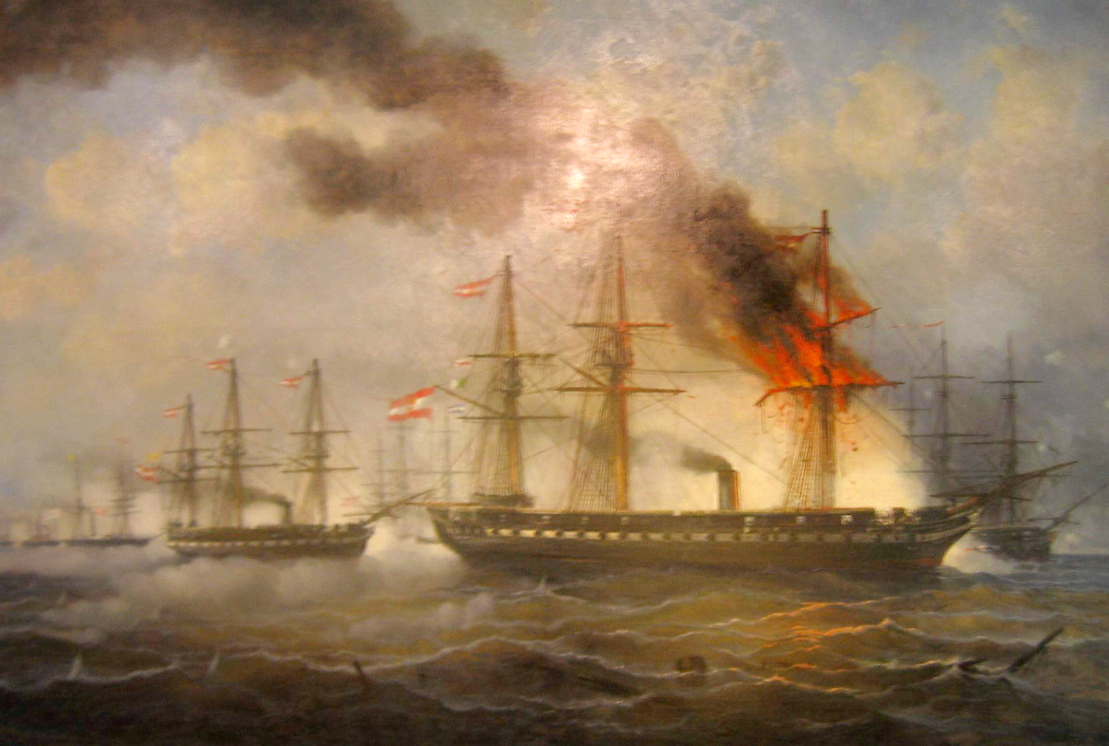 Original file ‎ (2,160 × 1,452 pixels, file size: 7.41 MB, MIME ...: commons.wikimedia.org/wiki/file:battle_of_helgoland_1864.png
