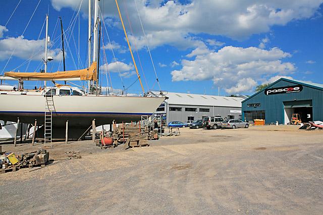 Boatyard at Universal Marina, River Hamble - geograph.org.uk - 449100