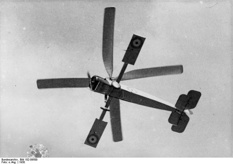 Bundesarchiv Bild 102-09500, Windmühlen-Aeroplan