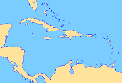 FileCaribbean Sea And West Indiespng Wikimedia Commons - Blank map of the west