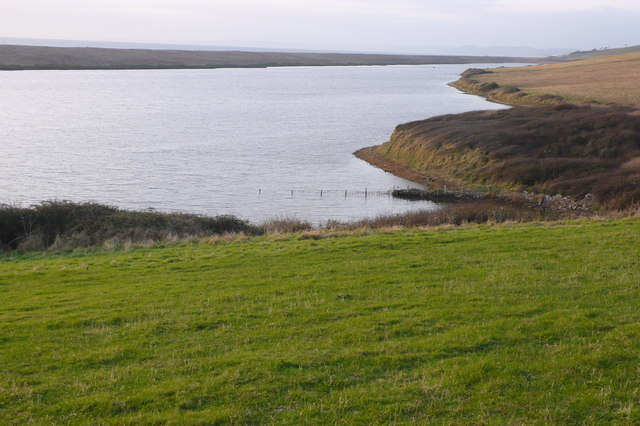 Chesil Beach and West Fleet from Berry's Knap - geograph.org.uk - 620204