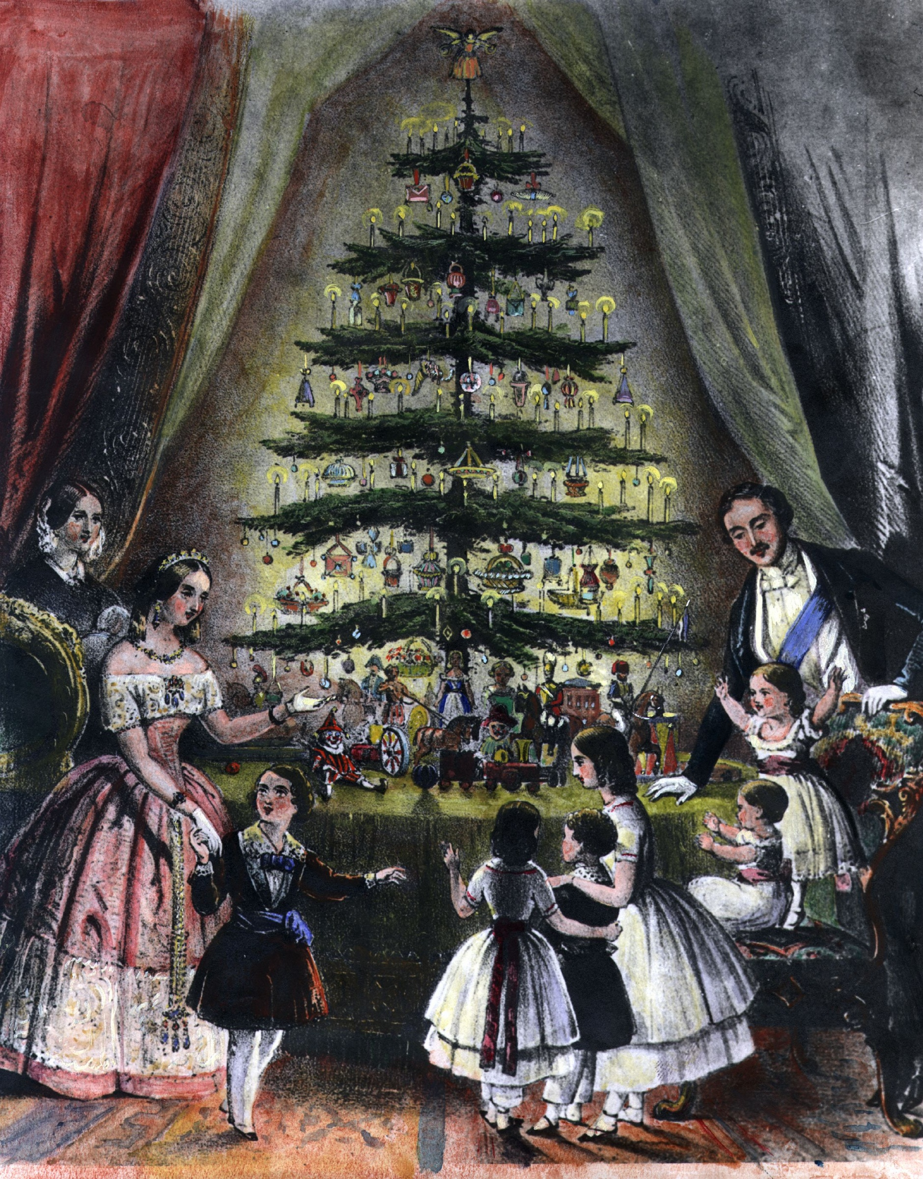 Image result for victoria albert christmas tree 1848