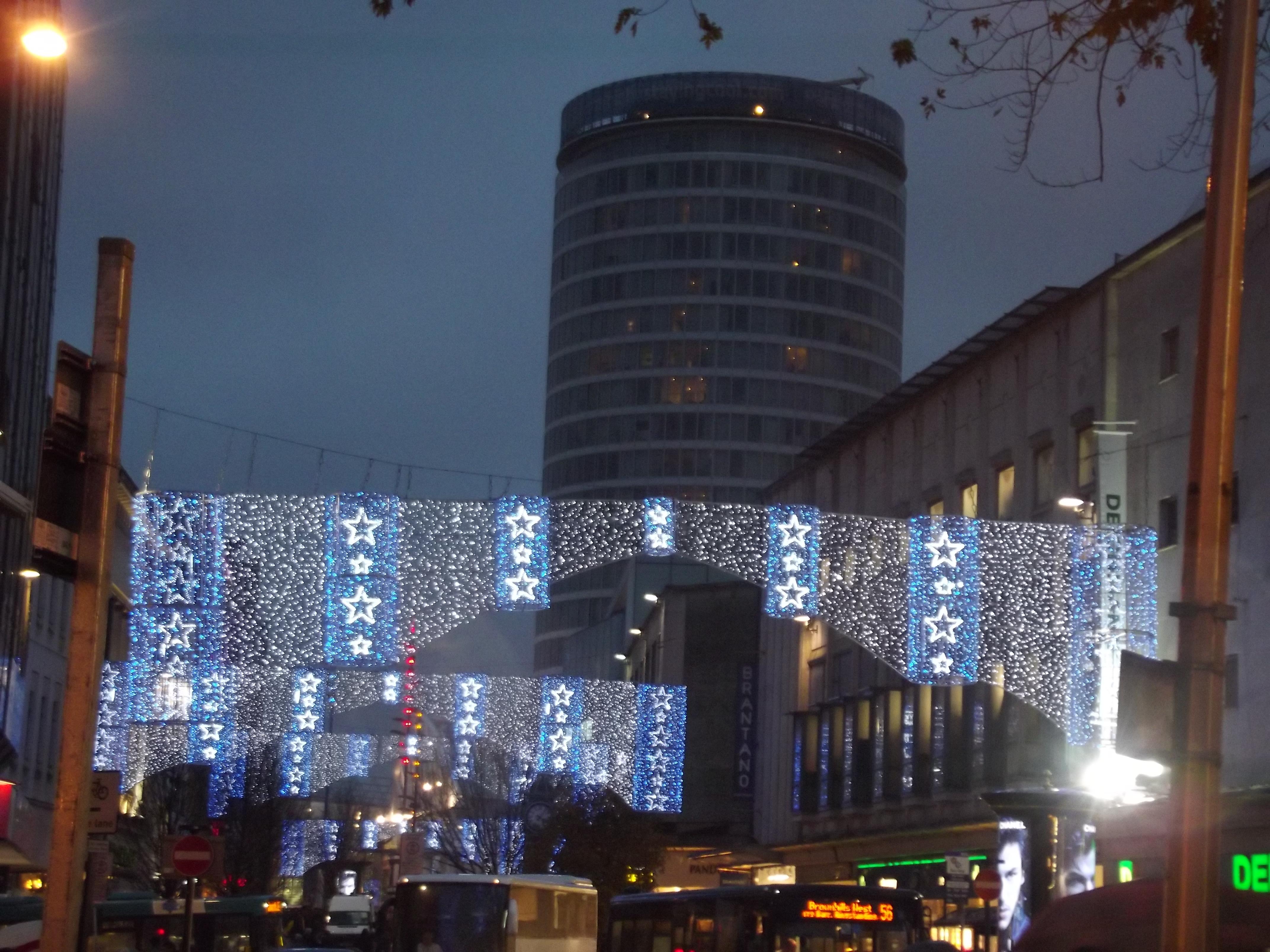 Birmingham Christmas Lights.File Christmas Lights On Birmingham High Street 8214680098