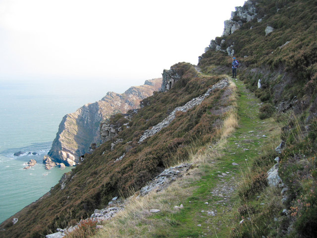 File:Coastal path near Heddon's mouth - geograph.org.uk - 691769.jpg