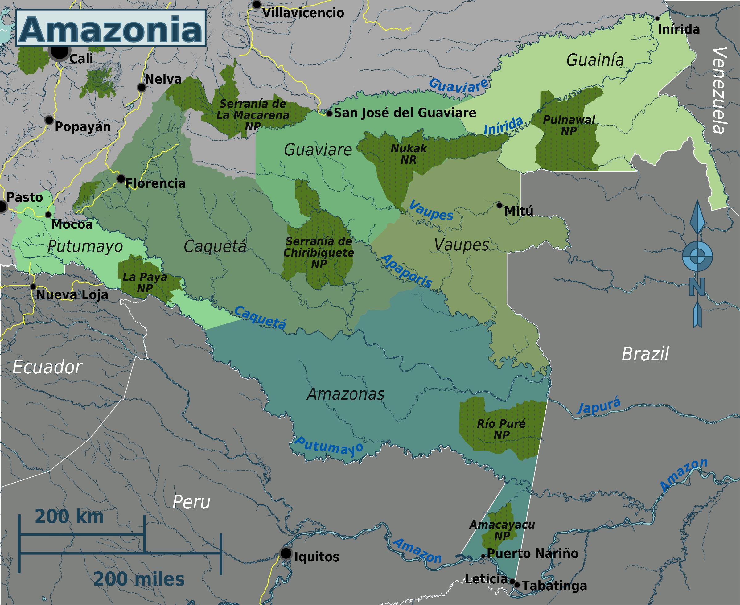 FileColombian Amazonia regions mappng  Wikimedia Commons