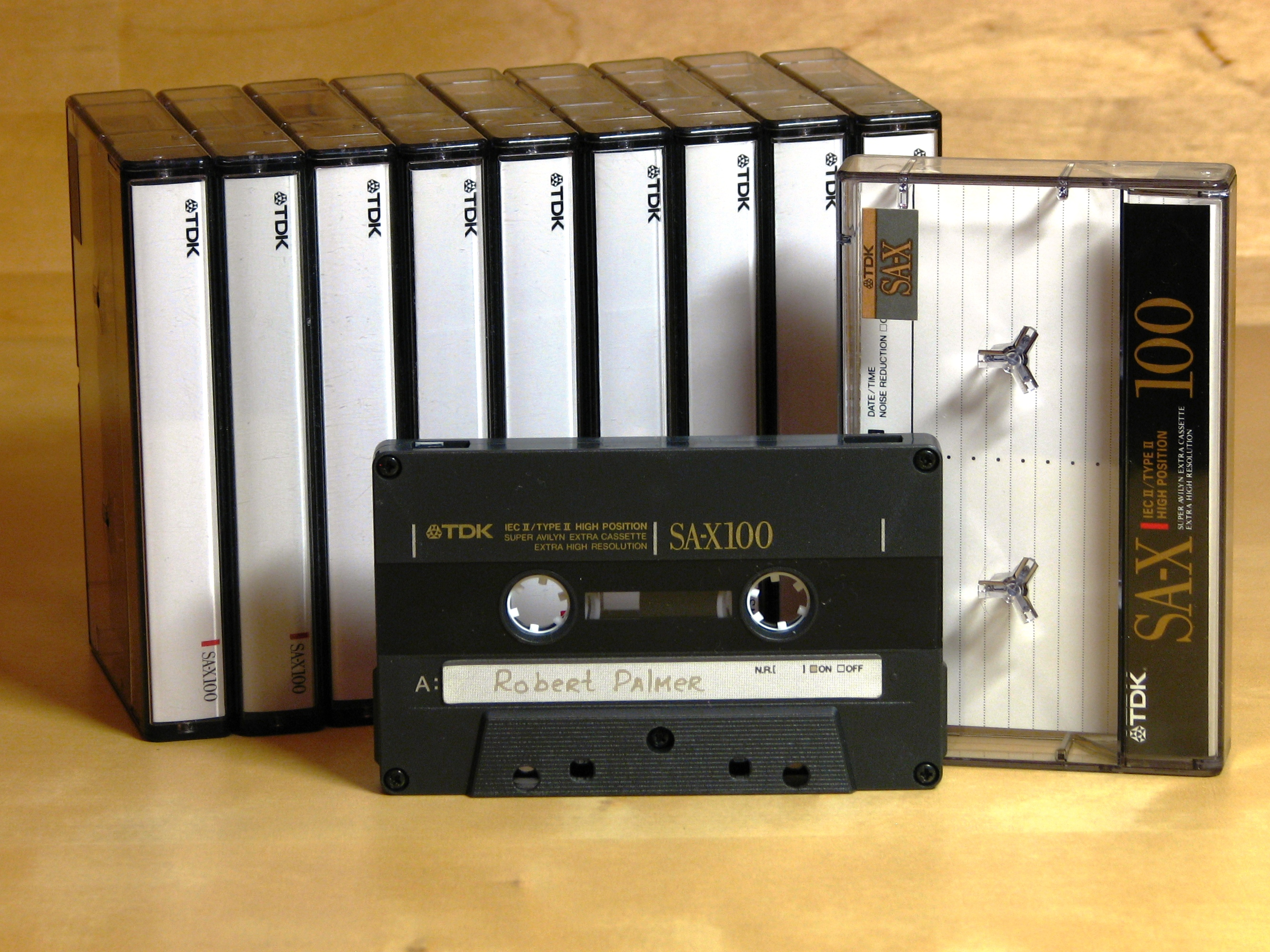 100 Minute Clock Chart: Compact Cassette - TDK SA-X 100.JPG - Wikimedia Commons,Chart
