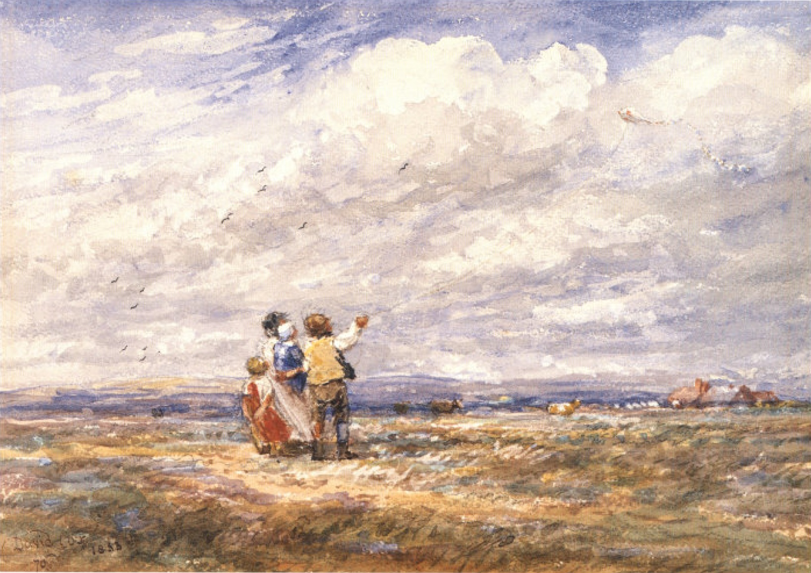 David Cox the Elder - Flying-the-Kite