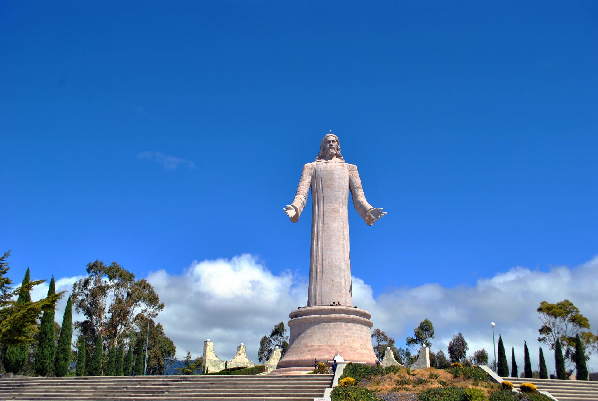 Vista de la escultura del Cristo Rey en Pachuca