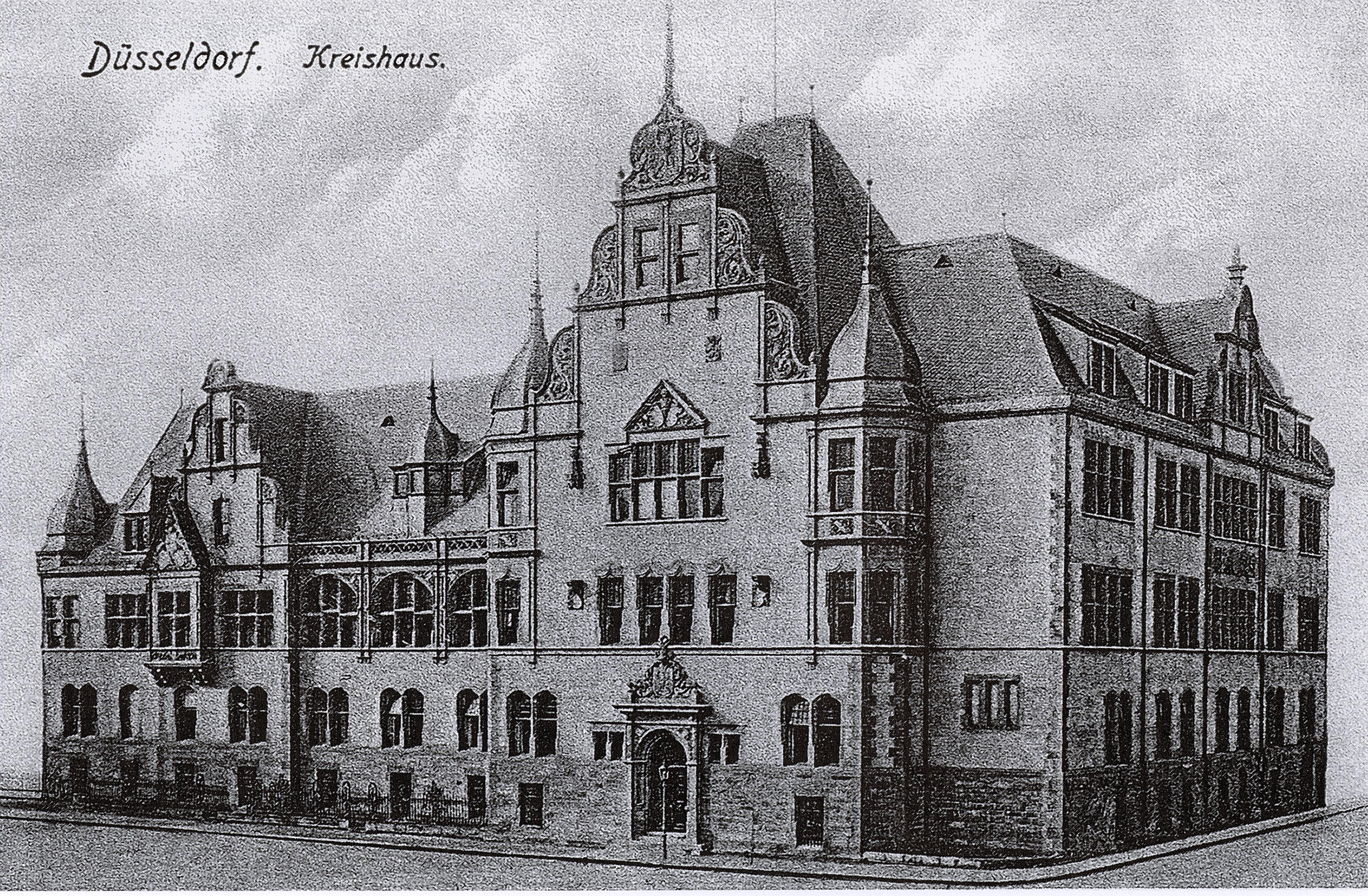 file d sseldorf kasernenstra e kreishaus erbaut 1901. Black Bedroom Furniture Sets. Home Design Ideas