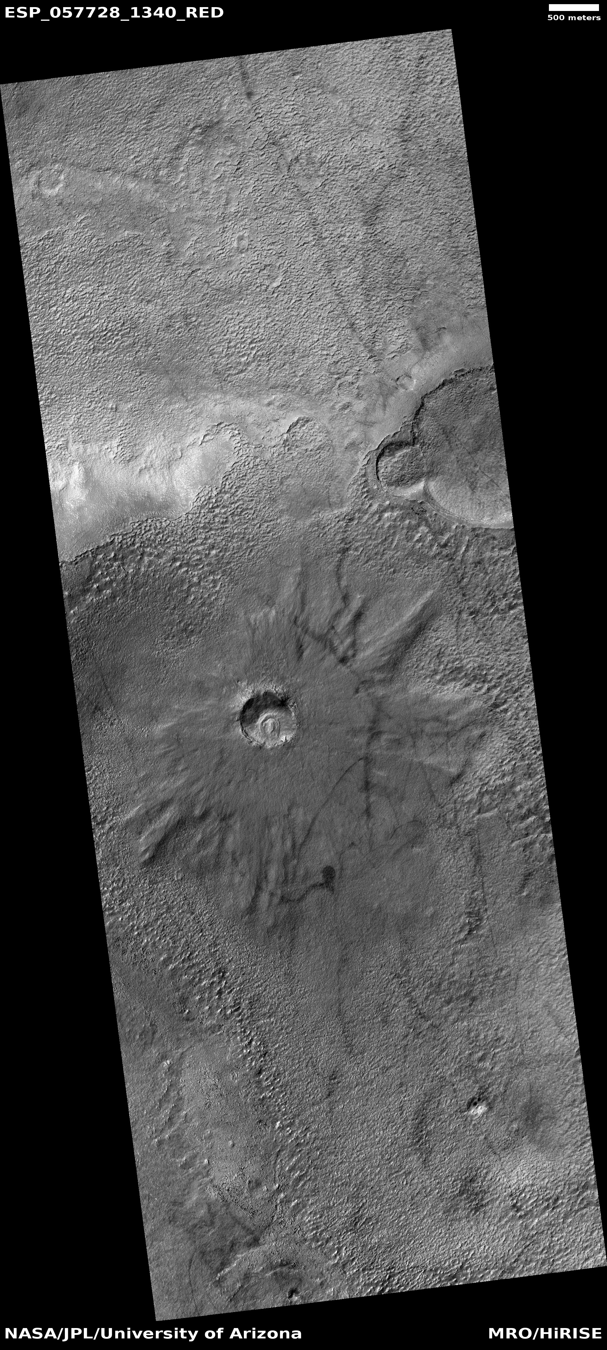 Crater and dust devil tracks