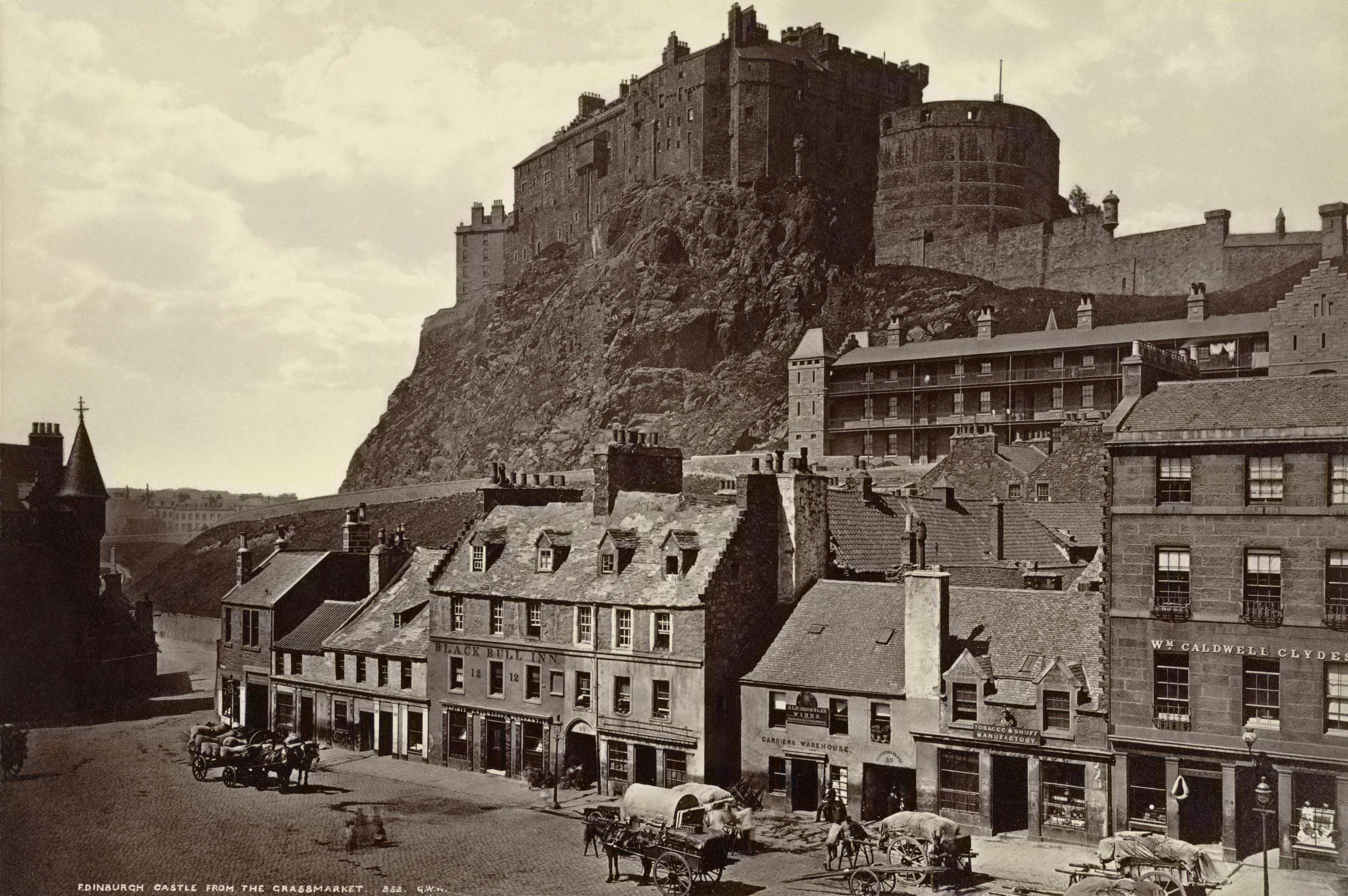 Edinburgh Castle From Grass Market