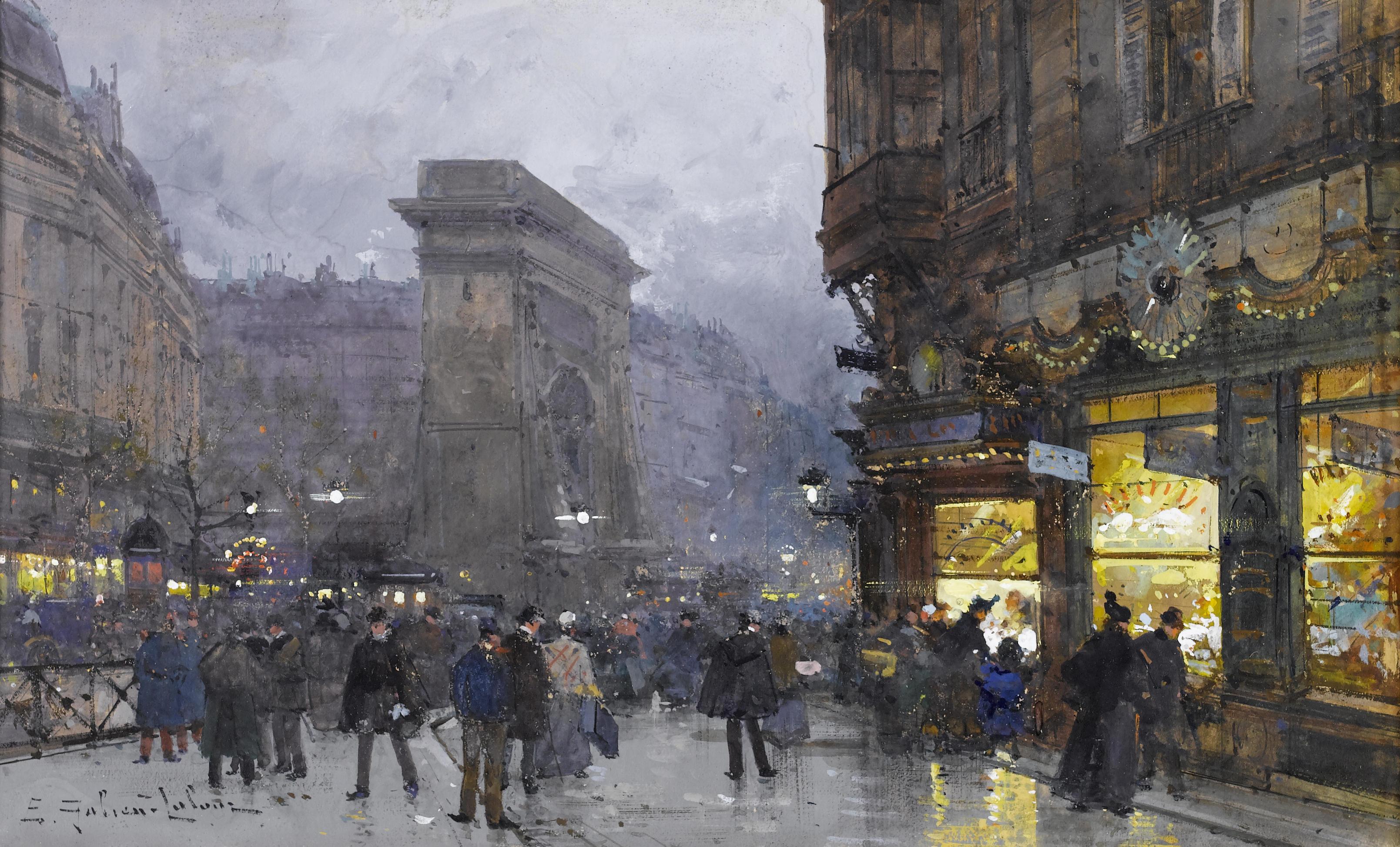 Eugène Galien - Laloue... Eug%C3%A8ne_Galien-Laloue_Paris_Porte_Saint-Denis_8