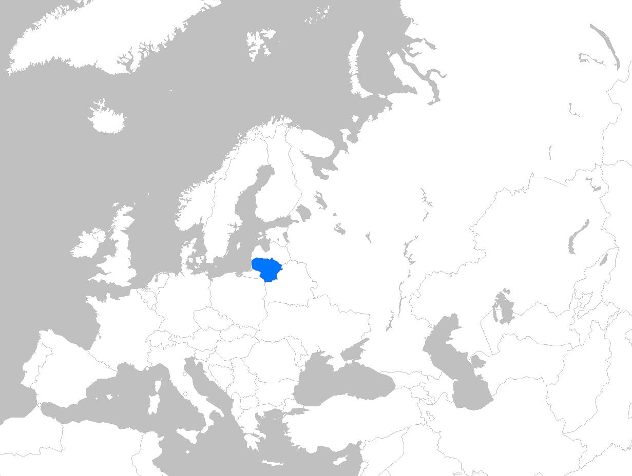 """Vaizdo rezultatas pagal užklausą """"map lithuania europe"""""""