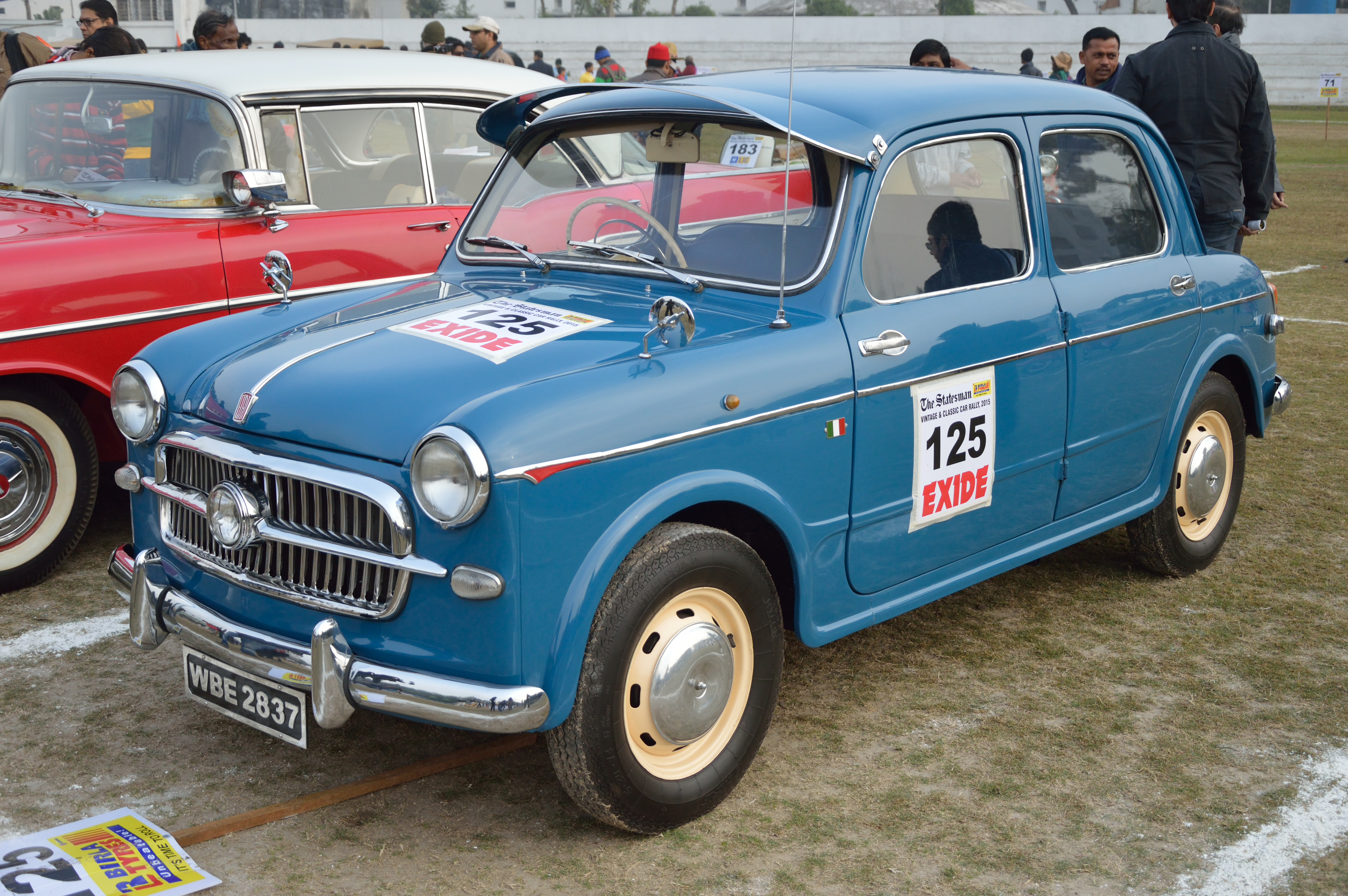 Fiat Of Cc >> File Fiat Elegant 1957 1100 Cc 4 Cyl Wbe 2837 Kolkata