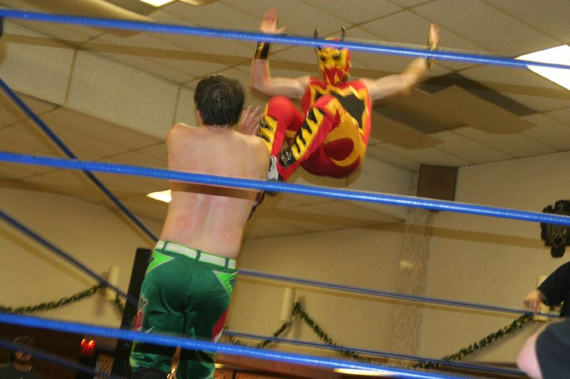 Fire Ant's missile dropkick