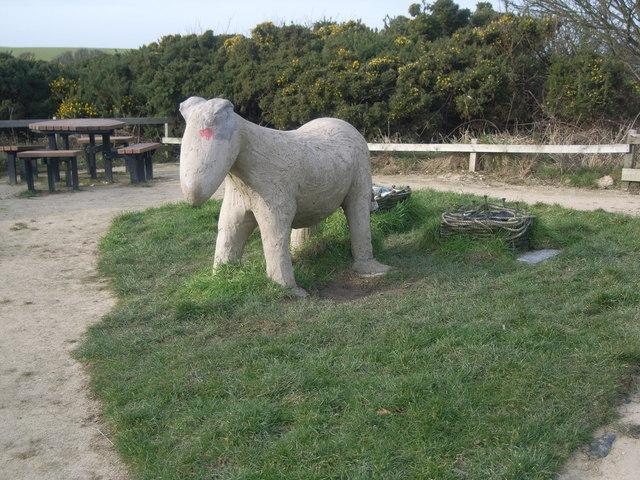 Flamborough Head - South Landing sculpture - geograph.org.uk - 685448