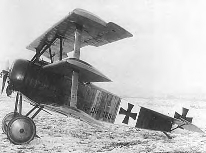 Fighter Aircraft with Piston Engines. First World War: Fokker Dr.I