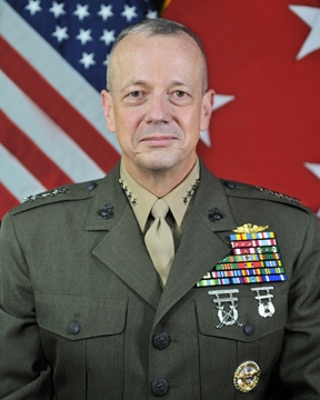 English: General John R. Allen, USMC Commander...