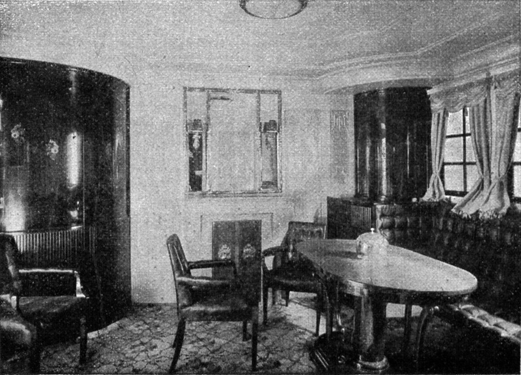 Cabin for 1st Class passengers of the George Washington luxury steamer, built by the Norddeutsche Lloyd in 1909