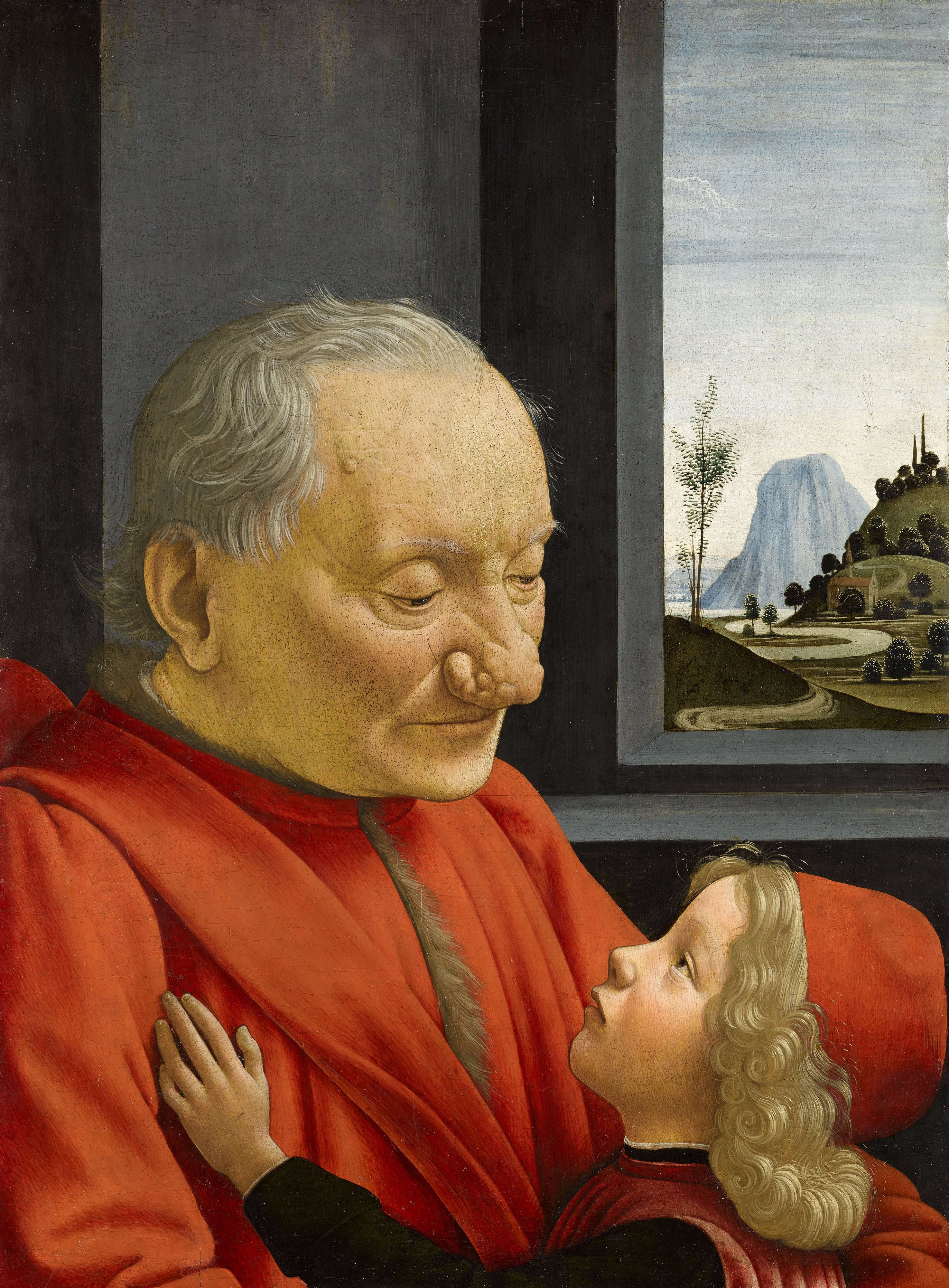 Portrait d'un vieillard et d'un jeune garçon — Wikipédia
