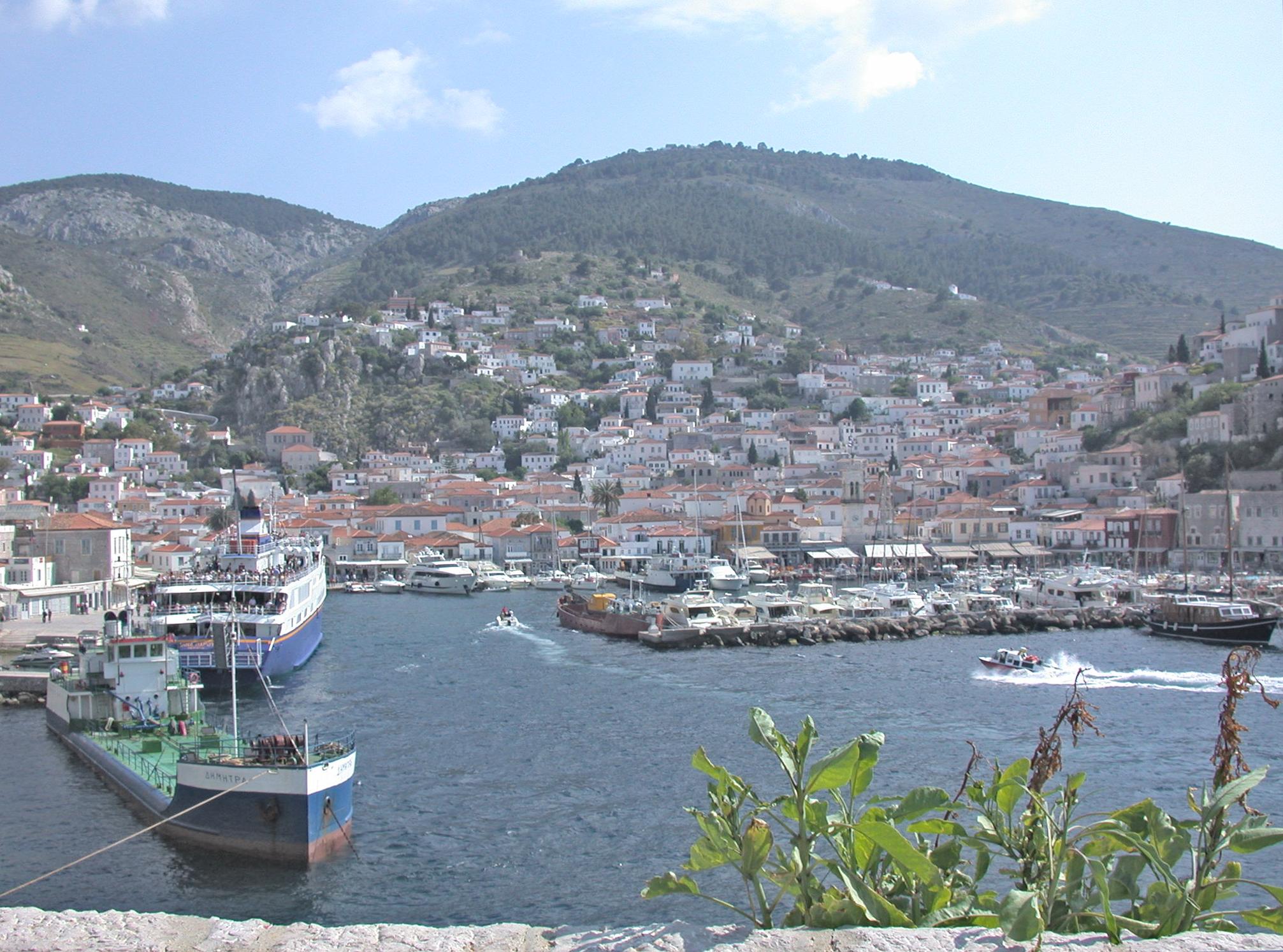 Hidra, isla griega donde Cohen escribió gran parte de su poesía durante la década de 1960.