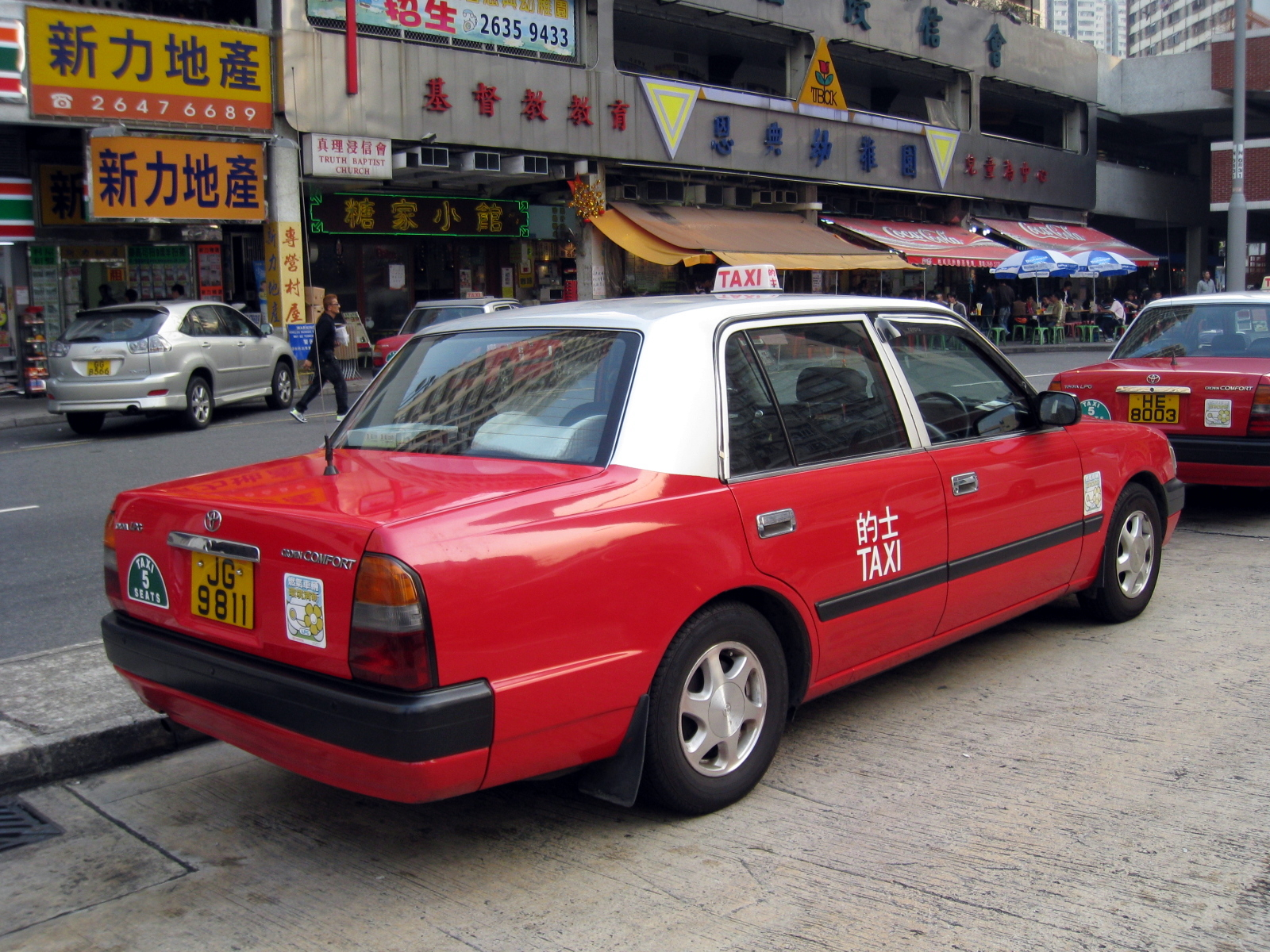 File Hk Toyotacomfort Red Taxi View Jpg Wikimedia Commons