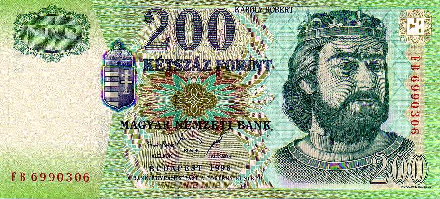 Kétszáz magyar forint (bankjegy, 1998) – Wikipédia