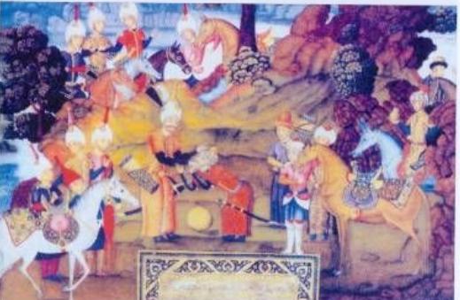 File:I İsmail and Babur shah painter Aliqulu beg Djabbardar.png ...