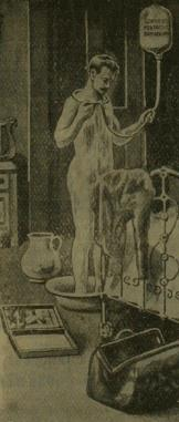 1904 illustration of a portable shower.