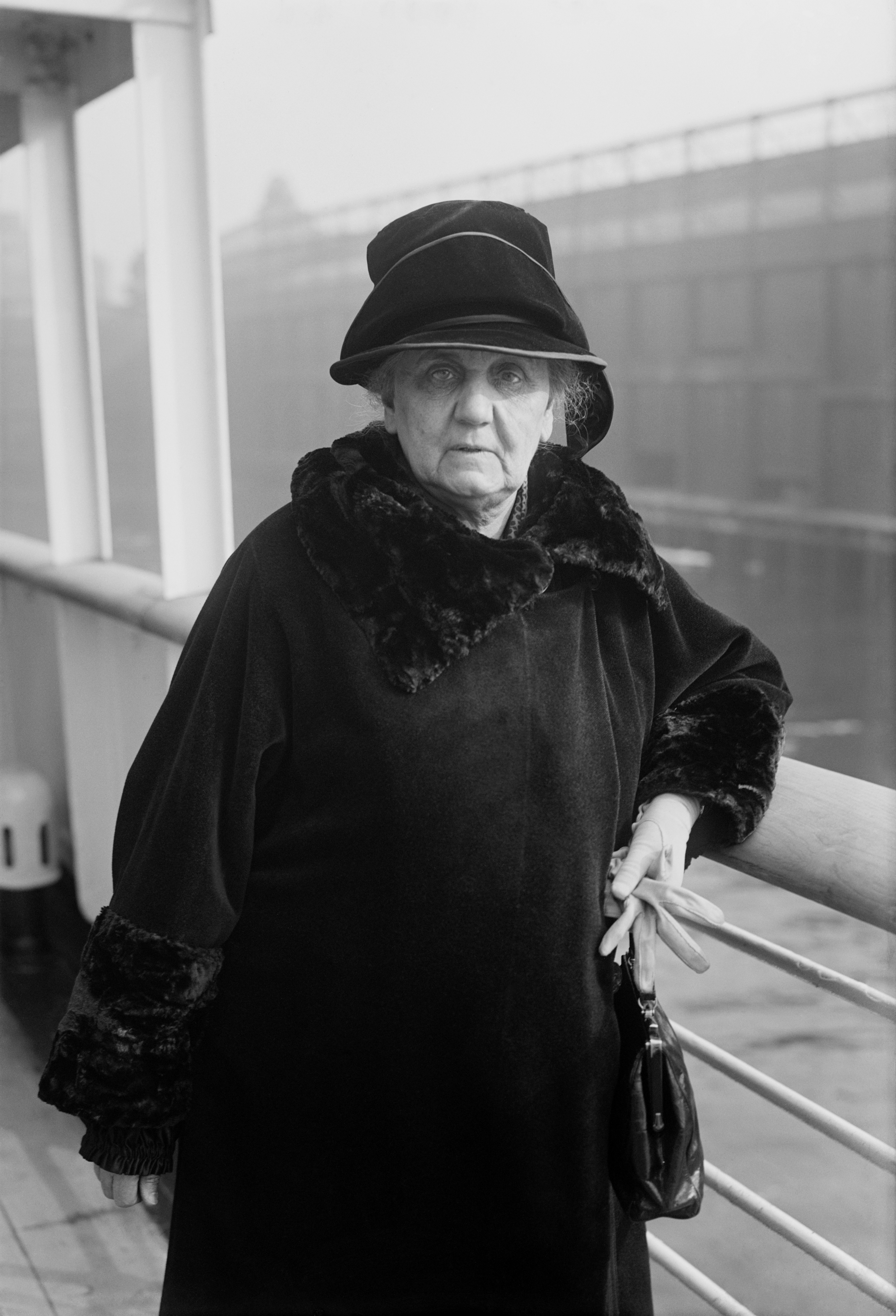Sociologist, suffragette, social worker, philosopher, and Nobel Peace Prize winner Jane Addams, in 1924 or 1926 (Bain News Service)